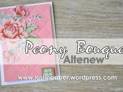 Altenew Peony Bouquet -  How to!