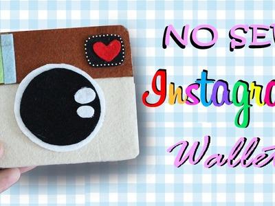 DIY Instagram Wallet - How to make Felt Instagram Wallet (NO SEW)