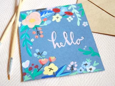 Hand Lettering on Kraft Paper for Beginners