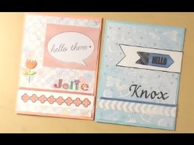 How to Make Congratulations.Welcome Baby Cards
