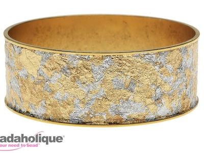 How to Mod Podge Gold Leafing onto a Bangle Bracelet