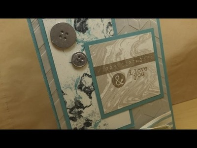 Making a Manly Birthday Card with Stampin' Up Products