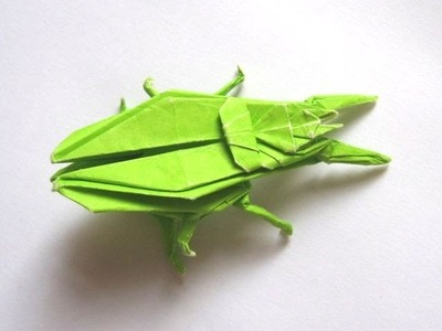 "Origami ""Ground Beetle"" by John Montroll (Part 1 of 3)"
