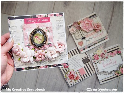 Romantic Shabby Chic Cards Tutorial for Beginners