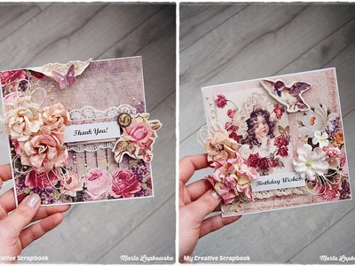 Vintage Romantic 'Thank you' Card TUTORIAL