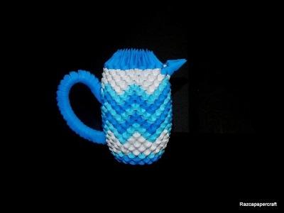 3d origami coffee set tutorial part6(3d origami milk container tutorial)