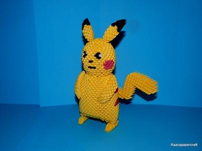 3D origami Pikachu tutorial Part2