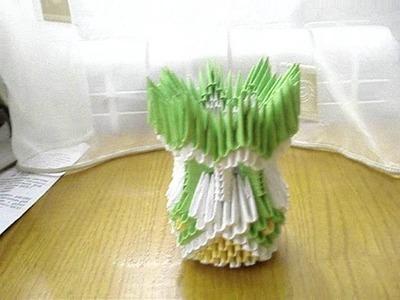 3D Origami Vase Tutorial #2
