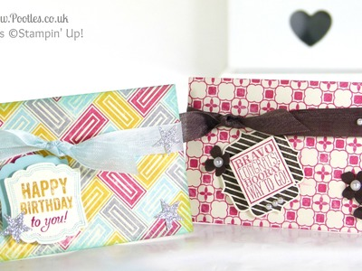 6x6 Gift Card Holder Tutorial using Stampin' Up! Die