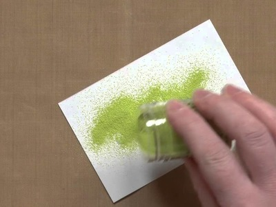 All About Adhesive: Heat Embossing with a Ball Point Adhesive Pen