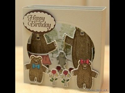 Bear Hugs Diorama Card - JanB UK Stampin' Up! Demonstrator Independent