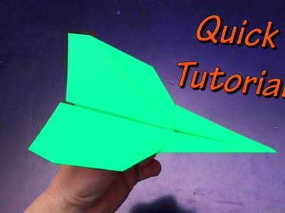 Best Paper Airplane You Can Make Quick Tutorial