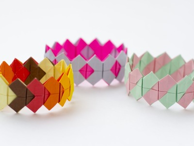 Bracelet tutorial. Origami bracelet easy. Paper bracelet
