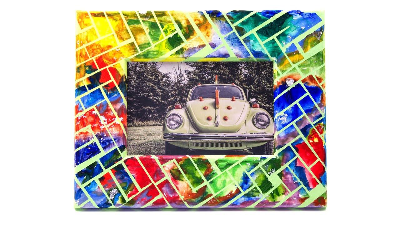 DIY Abstract Photo Frame Design