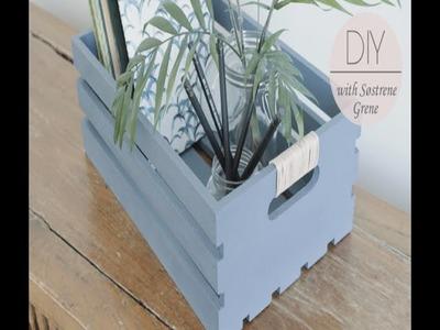 DIY: Boxes for storage by Søstrene Grene
