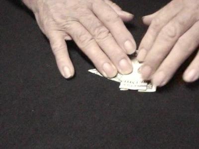 Dollar bill origami elephant