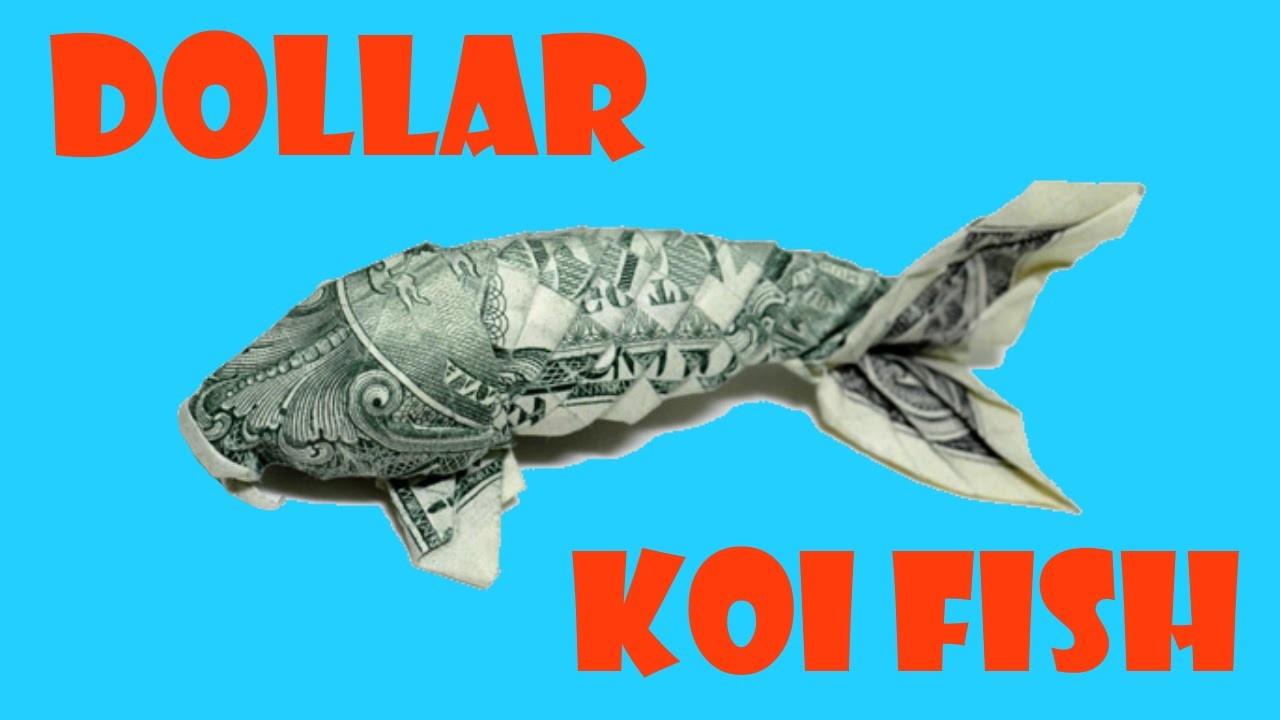 dollar koi fish origami tutorial won park