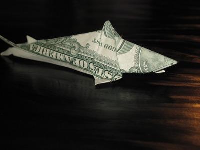 Dollar Origami: Won Park's Shark Step 27 (Not Complete Model)