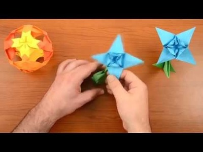 Easy origami flower EDELWEISS - How to make an origami flowers