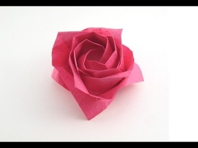 Easy origami rose instructions ♥ How to make an origami ROSE