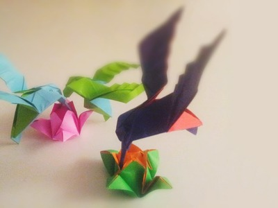Fast & curious humming-bird | tape recommended | Origami tutorial for intermediate