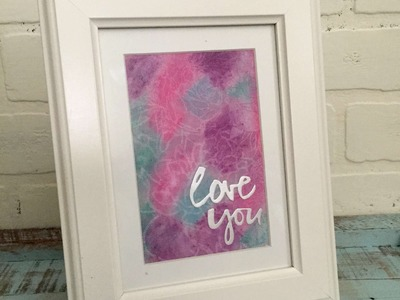 Gelatos and Heat Embossing on Sticky Back Canvas to create Framed Art