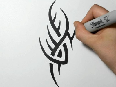How to Draw a Simple Spiky Tribal Tattoo Design