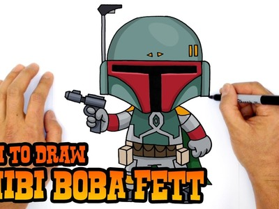 How to Draw Boba Fett (Chibi)- Step by Step Art Lesson