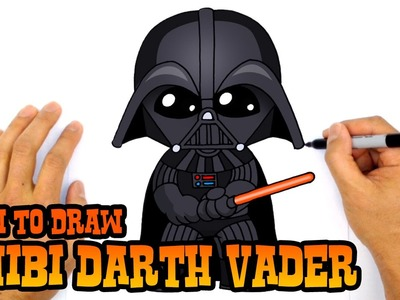 How to Draw Darth Vader (Chibi)- Step by Step Art Lesson