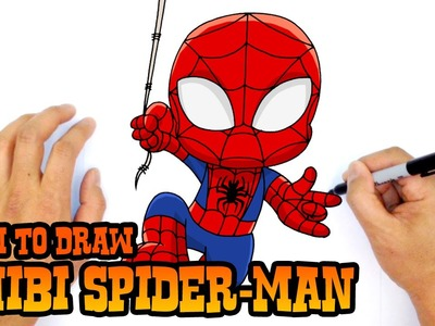 How to Draw Spider-Man (Chibi)- Kids Art Lesson