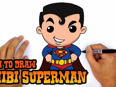 How to Draw Superman (Chibi)- Step by Step Art Lesson