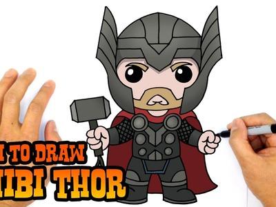 How to Draw Thor (Chibi)- Kids Art Lesson