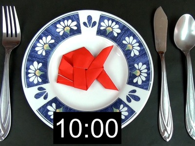 How to fold an origami fish in 10 seconds!