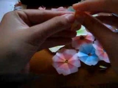 How to fold.cut out cherry blossom