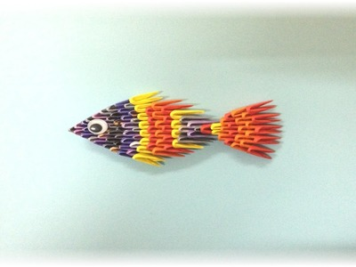 How to make 3d origami - Fish