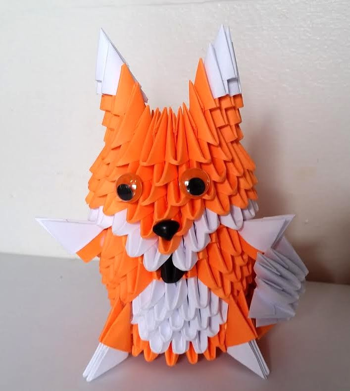 How to make 3d origami fox