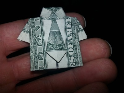 How to make a Dollar Bill origami Shirt with Tie (Money Transformer)