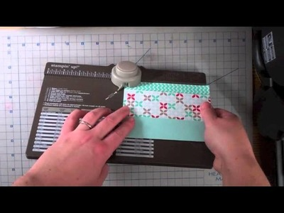How to make a file folder card with the envelope punch board