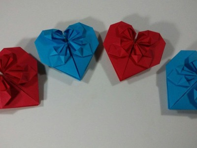 How to make an origami heart with petals - Easy origami