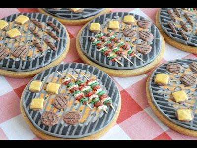 How To Make Grill Cookies Using Royal Icing