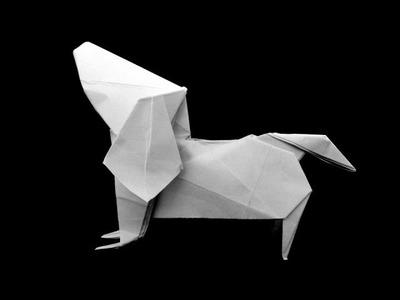 How to make: Origami Dog Dachshund (Fuchimoto Muneji)