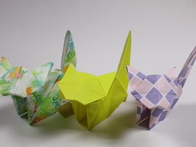 How to Origami Animal : Kawaii Cat