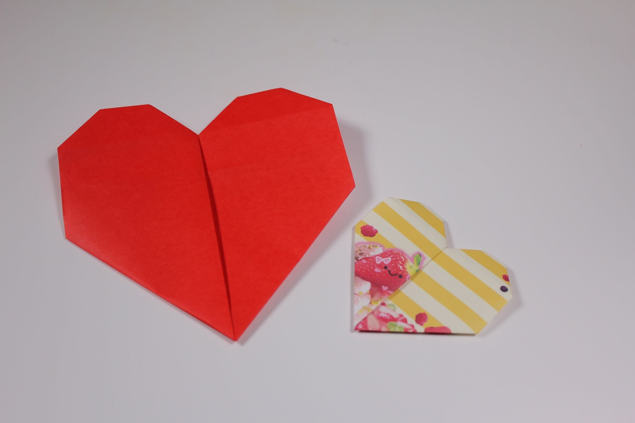 how to make heart shaped origami