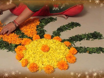 Learn Rangoli : Learn Flower Rangoli In 3 Mins