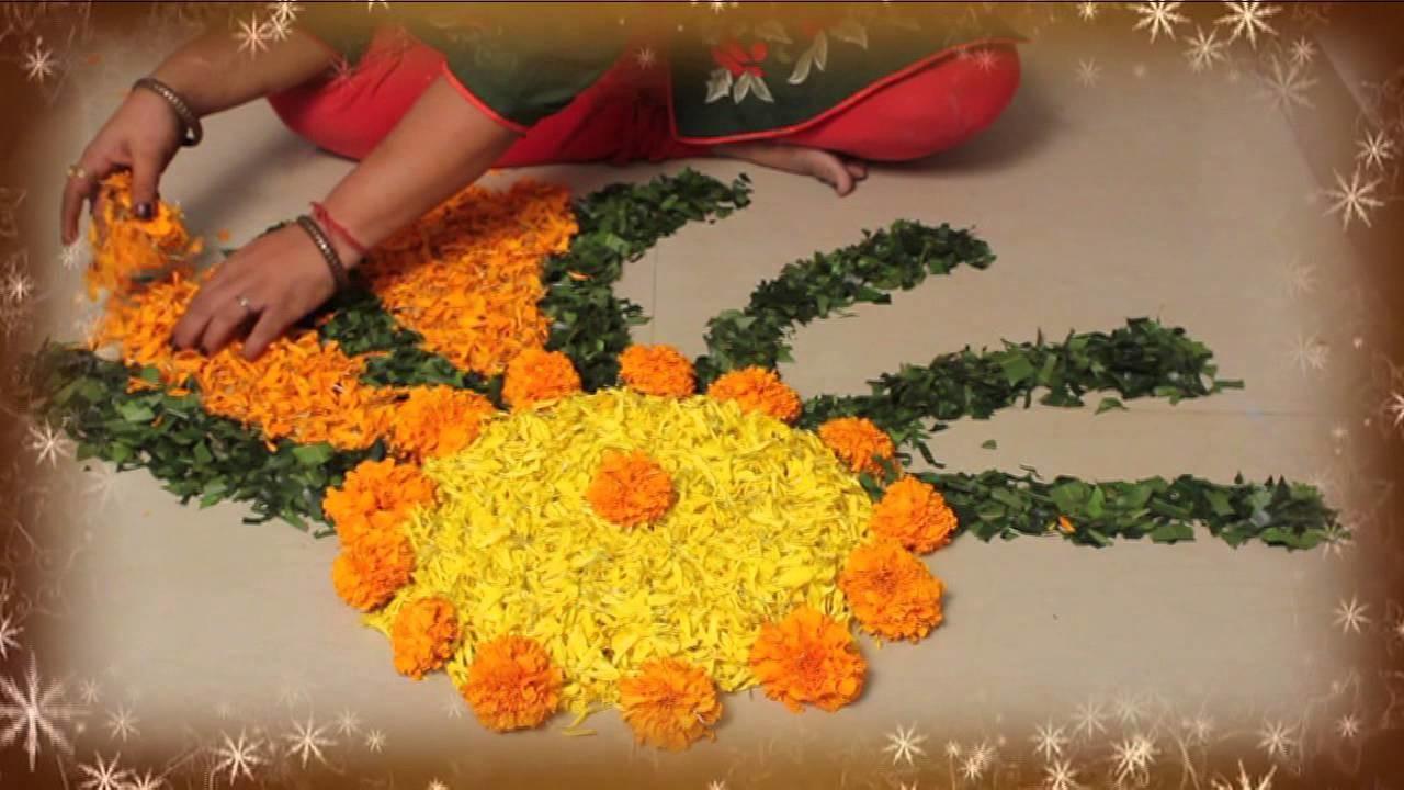 Learn Rangoli : Learn Flower Rangoli In 3 Mins
