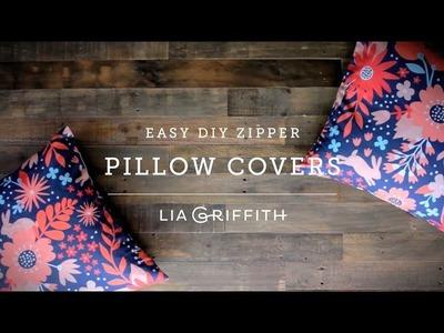 Make a Simple Zipper Pillow