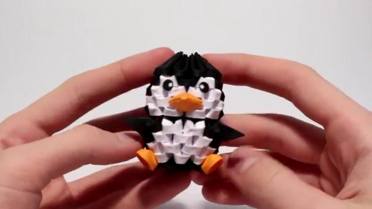 Making of 3D Origami Mini Penguin Timelapse