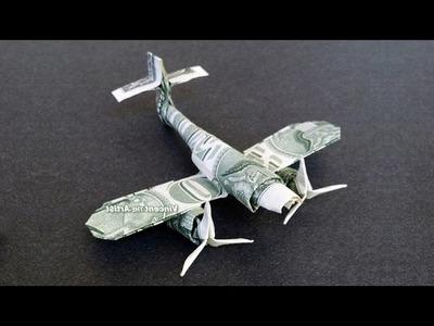 Messerschmitt Fighter Plane Money Origami - Dollar Bill Art
