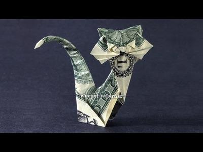 Money Origami CAT - Dollar Bill Art