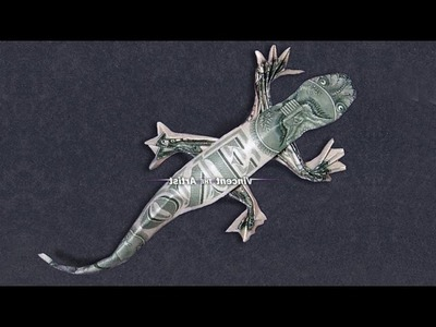 Money Origami Lizard - Dollar Bill Art